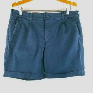 Abercrombie & Fitch 36 Pleated Pinstriped Shorts